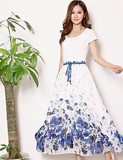 Kvinders Strand Maxi Nederdele Uelastisk Polyester