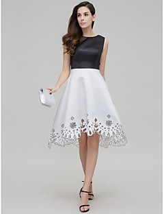 TS Couture® Cocktail Party Dress A-line Jewel Asymmetrical Satin with