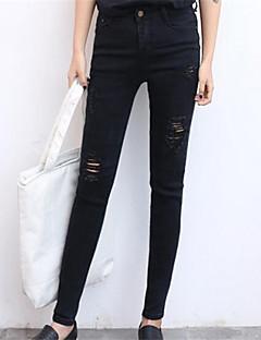 Streetchic Jeans Byxor Kvinnors Microelastisk Bomull