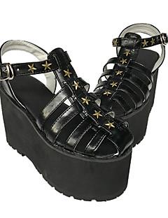 Custom Handmade Pentagram Rivet Heels Sandals 8CM