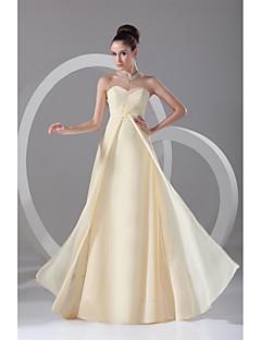 シース/コラム恋人の床の長さシフォンデートプリーツとフォーマルイブニングドレス