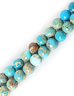 Beadia 1Str(Approx 63pcs) 6mm Round Natural Stone Beads Dyed Colors Sea Sediment Jasper Beads