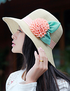 Women Straw Flowers Fedora Hat,Party / Casual Spring / Summer / Fall