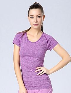 YUIYE® Womens Sportswear Gym Summer Active Seamfree Running Shirt Training Top Fitness Yoga Tops Grey Sports Tops