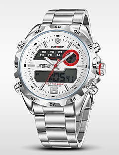 WEIDE® Men's Full Steel Analog Digital Auto Date Alarm LCD Display Sport Watch Cool Watch Unique Watch