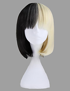Sort og Blonde Short Straight syntetisk Søde Lolita Wig