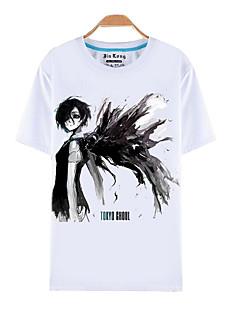 Inspirovaný Tokyo Ghoul Ken Kaneki Anime Cosplay kostýmy Cosplay T-shirt Tisk Biały Krátké rukávy Vrchní deska