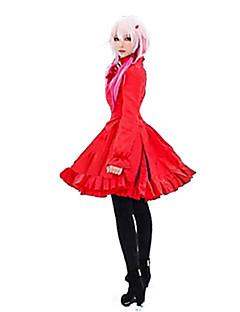 Inspiriert von Guilty Crown Inori Yuzuriha Anime Cosplay Kostüme Kleider einfarbig Rot Kleid
