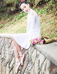 Ballet Dresses Women's Performance Spandex / Polyester Ruched 1 Piece Long Sleeve Dress L:86CM,XL:88CM,XXL:90