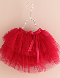 2-8y New Fashion Children Girl Skirts Baby Ballerina Skirt Kids Chiffon Fluffy Casual Candy 5 Color Skirt