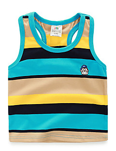 BK  6-12 Y Boys Boy Striped Vest Sleeveless T-shirt Tank & Cami 2016 Summer Kids' Clothing