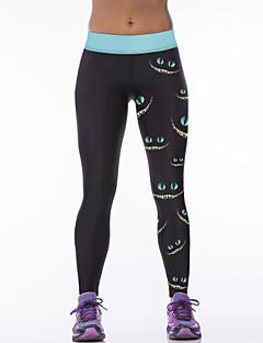 מכנסיים יוגה תחתיות נושם / ייבוש מהיר טבעי מתיחה בגדי ספורט שחור לנשים אחרים יוגה / כושר גופני / מירוץ / ספורט פנאי / ריצה