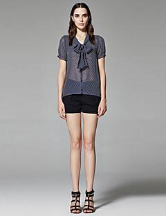 ZigZag® Damen V-Ausschnitt Kurze Ärmel Shirt & Bluse Marinenblau - 11350