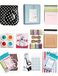 fujifilm instax mini 8 onmiddellijke polaroid camera-accessoire kit geschenk (leer polka dot beschermhoes sticker album)