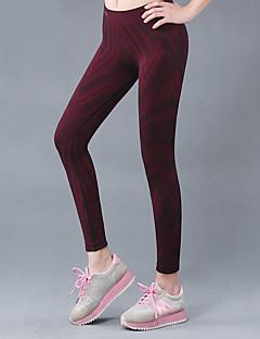 calças de yoga Calças Respirável Secagem Rápida Natural Inelástico Moda Esportiva Marron MulheresIoga Exercício e Atividade Física