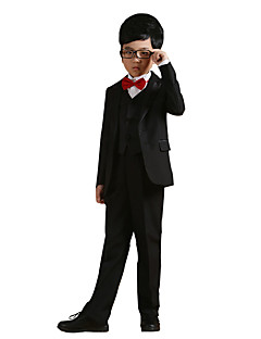 Boy's Cotton All Seasons Performing Arts Formal Suit Coat Shirt Pants Waistcoat Bow Tie Belts Six-piece Clothing Set
