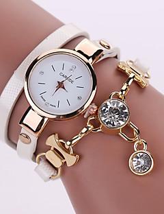 Damen Modeuhr Quartz Armbanduhren für den Alltag Leder Band Böhmische Schwarz Weiß Blau Silber Rot Braun Grün Rosa Lila Beige Marinenblau