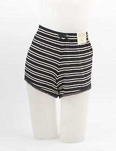 Women's Striped Blue / Black / Green / Purple Shorts Pants,Plus Size