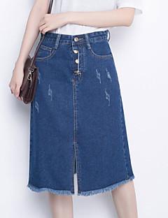 Jupes Aux femmes Mi-long Décontracté / Simple Coton Non Elastique