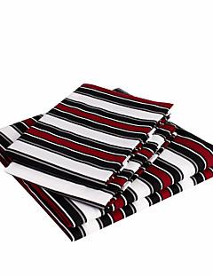 """Blattsatz, 4-teilig Mikrofaser, die roten und schwarzen Linien mit 12 """"Taschentiefe"""