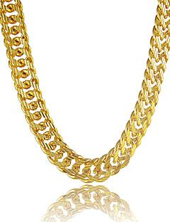 Pánské Řetízky Circle Shape Line Shape Pokovená platina Pozlacené Slitina Přizpůsobeno bižuterie Šperky Pro Denní Ležérní Sport Plážové