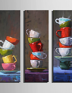 Vida Imóvel Impressão em tela 3 Painéis Pronto para pendurar,Vertical
