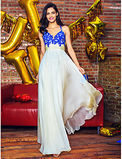 TS Couture® Prom  Formal Evening Dress A-line Straps Floor-length Chiffon with Appliques