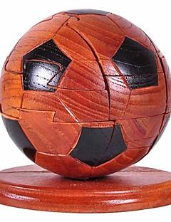 ジグソーパズル 3Dパズル / ウッドパズル ビルディングブロック DIYのおもちゃ サッカー ウッド シルバー / 黒フェード プラモデル&組み立ておもちゃ