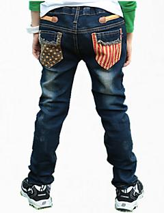 Farveblok Drengens Jeans Alle årstider Bomuld