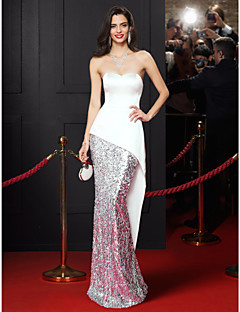 TS Couture Prom Formal Evening Dress - Celebrity Style Trumpet / Mermaid Sweetheart Floor-length Satin Sequined with Sequins
