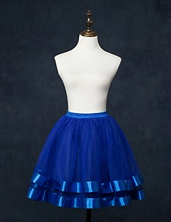 Slips Ball Gown Slip Knee-Length 2 Tulle Netting White / Red / Blue / Pink / Brown