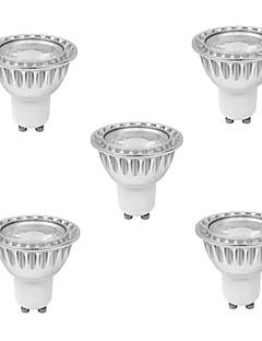 9W GU10 Spot LED MR16 1 COB 810 lm Blanc Chaud AC 85-265 V 5 pièces