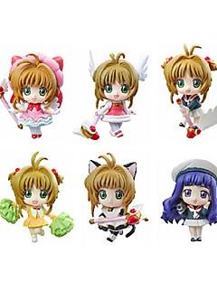 Cardcaptor Sakura Sakura Kinomodo PVC 5.5cm Anime Action Figures Model Toys Doll Toy 1 Set