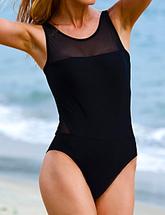 Women's Fashion Sexy Solid / Mesh Wireless One-pieces Swimwear