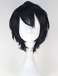 Cosplay Wigs Seraph of the End Yuichiro Hyakuya Black Short Anime Cosplay Wigs 32 CM Heat Resistant Fiber Male