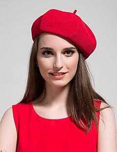 כובע כומתה (בארט) נשים וינטאג' / חמוד / יום יומי,תערובת צמר כל העונות