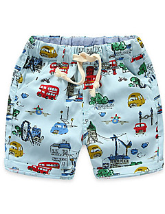 Baby Kids Summer Fall Style Beach Suit Boys Cartoon Car Printed Short Pants Sorft Shorts Outfit Sets
