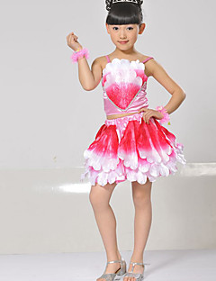 Performance Outfits Children's Performance Matte Satin Sequins 2 Pieces Sleeveless Natural Skirt / TopTop:S:26cm M:28cm L:30cm XL:32cm