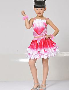 Optredens Outfits Kinderen Prestatie Matte Satijn Pailletten 2-delig Mouwloos Natuurlijk Bovenkleding / RokTop:S:26cm M:28cm L:30cm