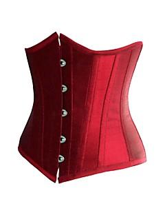 Damen Unterbrustkorsett Nachtwäsche,Sexy einfarbig-Satin Weiß Rote Schwarz Damen