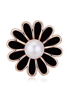 Naisten Kristalli Helmi Gold Plated Valkoinen Musta Mustavalkoinen Korut Häät Party Päivittäin
