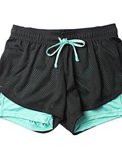 Dame Shorts til jogging Pustende Myk Komprimering Glat Bunner til Trening & Fitness Løp Blå S M L XL