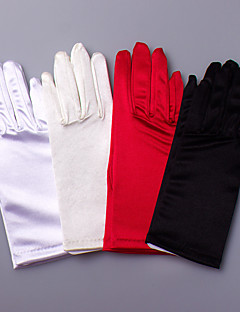 Wrist Length Fingertips Glove Satin / Elastic Satin Bridal Gloves / Party/ Evening Gloves Spring / Summer / Fall / Winter
