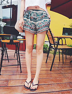 Pantaloni Da donna Pantaloncini / A zampa Boho Poliestere Anelastico