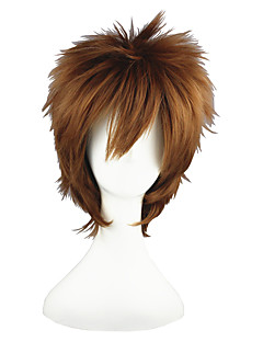 Cosplay Wigs The Prince of Tennis Yukiteru Amano Brown Short Anime Cosplay Wigs 35 CM Heat Resistant Fiber Male / Female