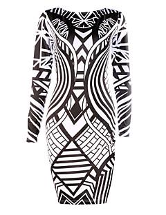 女性の幾何学的なドレス、ボディコン