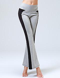 calças de yoga Calças Respirável Redutor de Suor Natural Com Elástico Moda Esportiva Preto/Branco Black / azul Mulheres CONNYIoga