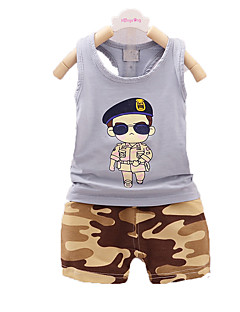 nye sommer børnetøj, dreng kulør, børn bomuld dragt, baby drenge blide tøj