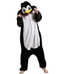 Kigurumi Pyjamas Pingvin Trikot/Heldragtskostumer Festival/Højtider Nattøj Med Dyr Halloween Sort hvid Patchwork Polarfleece Kigurumi Til