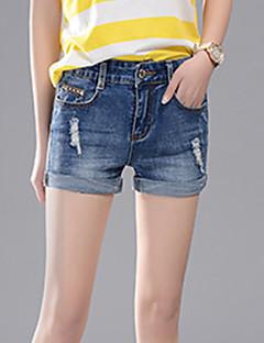 Street chic-Katoen-Inelastisch-Kort / Jeans-Broek-Vrouwen